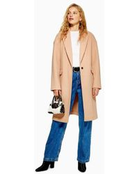 TOPSHOP - Petite Relaxed Coat - Lyst