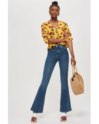 TOPSHOP - Jamie Flare Jeans - Lyst