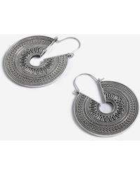 TOPSHOP - filled Engraved Hoop Earrings - Lyst