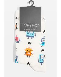 TOPSHOP | Robot And Star Socks | Lyst