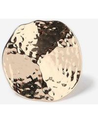 TOPSHOP - Hammered Disc Ring - Lyst