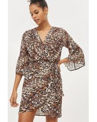 Love | Printed Bell Sleeve Wrap Dress By | Lyst