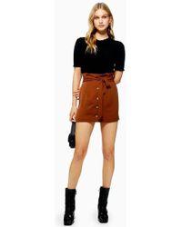 TOPSHOP - Paperbag Mini Skirt - Lyst