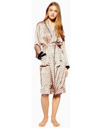 TOPSHOP - Animal Velvet Robe - Lyst