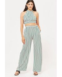 Love - striped Palazzo Trousers By - Lyst