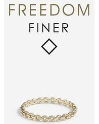 TOPSHOP - freedom Finer Chain Ring - Lyst