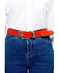 TOPSHOP - Classic Pony Hair Belt - Lyst