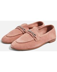 TOPSHOP - Key Trim Loafers - Lyst
