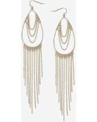 TOPSHOP - Teardrop Chain Drop Earrings - Lyst