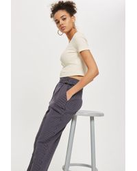 TOPSHOP | Stripe Tapered Trousers | Lyst