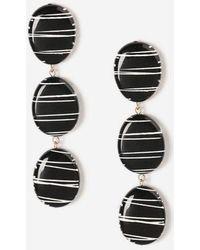 TOPSHOP - Striped Bead Drop Earrings - Lyst