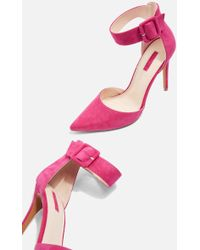 TOPSHOP - Grace Wide Ankle Strap Shoes - Lyst