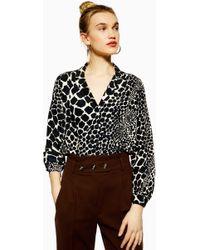 TOPSHOP - Giraffe Print Shirt - Lyst