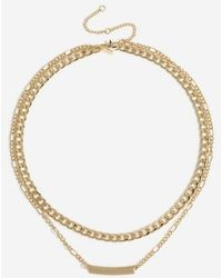 TOPSHOP - chunky Bar Necklace - Lyst
