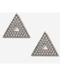 TOPSHOP - Rhinestone Triangle Stud Earrings - Lyst