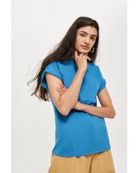 TOPSHOP - Roll Sleeve T-shirt - Lyst