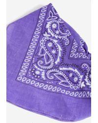 TOPSHOP - Purple Paisley Bandana - Lyst