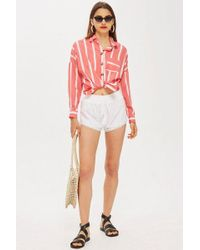 TOPSHOP - Broderie Shorts - Lyst