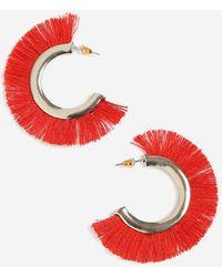TOPSHOP - Tassel Fan Hoop Earrings - Lyst