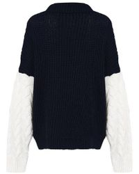 Glamorous - contrast Sleeve Knitted Jumper By - Lyst