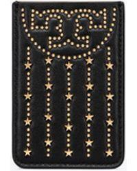 Tory Burch - Fleming Star-stud Phone Card Pocket - Lyst