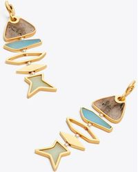 Tory Burch - Fish Geometric Earring - Lyst