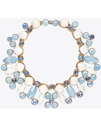 Tory Burch - Epoxy Moonstone Necklace - Lyst