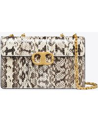 Tory Burch - Gemini Link Snake Small Chain Shoulder Bag - Lyst