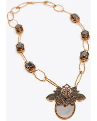 Tory Burch - Dragonfly Statement Necklace - Lyst