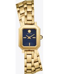 Tory Burch - Robinson Navy Blue Dial Mini Watch - Lyst
