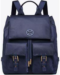 Tory Burch - Tilda Nylon Flap Backpack - Lyst
