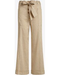 Tory Burch - Cropped Cotton Striped Pant | 883 | Trousers - Lyst