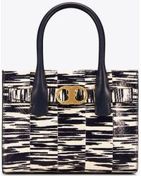 Tory Burch | Gemini Link Snake Small Tote | Lyst