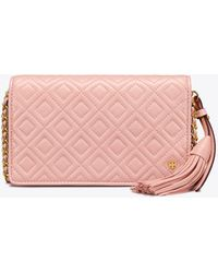 Tory Burch - Fleming Flat Wallet Cross-body - Lyst