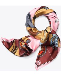 Tory Burch - Safari Silk Square Scarf - Lyst