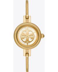 Tory Burch Reva Bangle Watch, Multi-color/gold-tone, 29 Mm