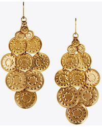 Tory Burch - Coin Chandelier Earring - Lyst