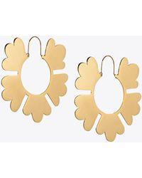 Tory Burch - Geo Flower Hoop Earring - Lyst