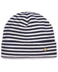 Tory Burch - Gemini Link Slim-stripe Hat - Lyst