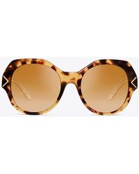 Tory Burch - Chevron Sunglasses - Lyst