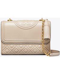 2ff1efda953c Tory Burch Fleming Convertible Shoulder Bag in Pink - Save 19% - Lyst