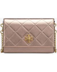 Tory Burch - Georgia Metallic Turn-lock Mini Bag - Lyst