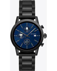 Tory Burch - Gigi Touchscreen Smartwatch, Black-tone Stainless Steel, 40mm - Lyst