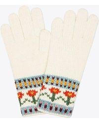 Tory Burch - Knit Fair Isle Glove - Lyst