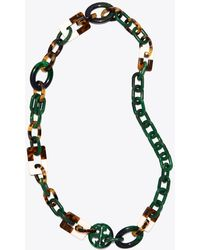 Tory Burch - Resin Color-block Necklace - Lyst