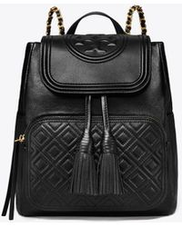 ad09b30ba3ef Tory Burch - Fleming Leather Backpack - Lyst