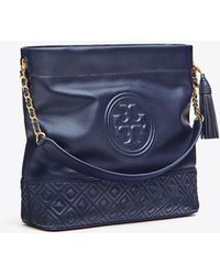 13d5cb2d816e Lyst - Tory Burch Fleming Medium Bag in Blue