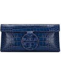 Tory Burch - Miller Embossed Clutch - Lyst