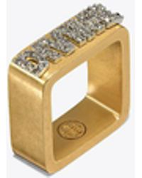 Tory Burch - Message Ring - Lyst