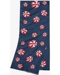 Tory Burch - Flying Logo Oblong Scarf | 405 | Scarves - Lyst